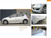 Nissan Tiida add on body kit
