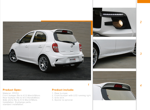 Nissan March / Micra full body kit