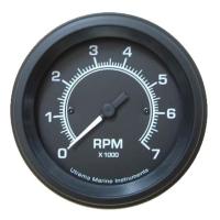 Utrema Black Marine Tachometer 3-3/8