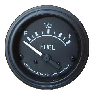 Utrema Black Marine Fuel Gauge 52mm