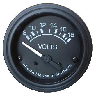Utrema Black Marine Voltmeter