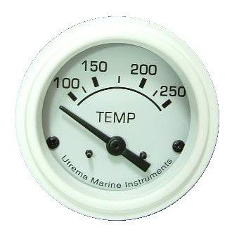 Utrema White Marine Water Temp Gauge 2-1/16