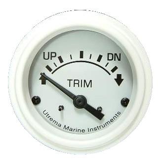 Utrema White Marine Trim Gauge 2-1/16
