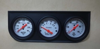 Utrema Triple Gauge Set, water temp/volt/oil press gauge