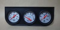Utrema Triple Gauge Set, water temp/volt/oil press gauge