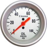 Cens.com Utrema Auto Mechanical Oil Pressure Gauge 2-1/16