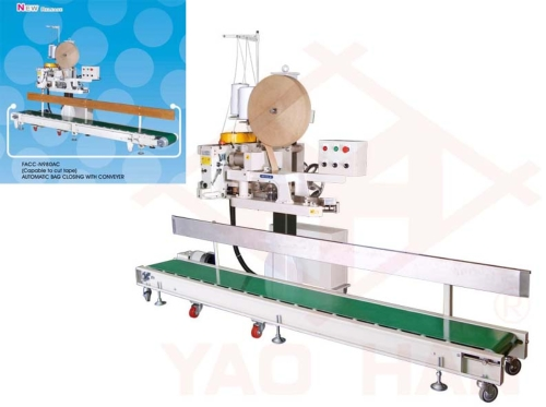 (Capable to Cut Tape) Automatic Bag Closing with Conveyor