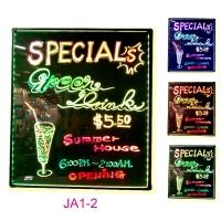 JA1-2 Illuminated LED color change writing/menu blackboard.
