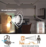 Rechargeable mini PIR motion sensor light