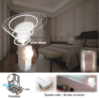 Bypass USB photo-controlled night light