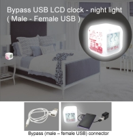 Bypass USB LCD clock - night light
