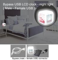 Bypass USB LCD clock - night light