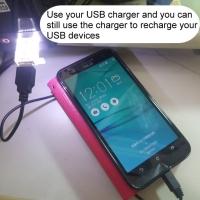 Bypass USB mini night light ( Male-Female USB )