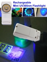 Rechargeable mini UV365nm flashlight