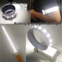 Rolling & straight flashlight