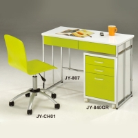 Apple Green Desk / File Cabinet / And Office Chair