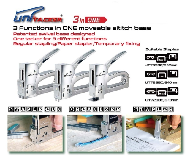 3 functions in ONE, all steel staple gun tacker