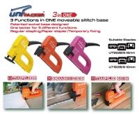 3 functions in ONE plastic housing staple gun tacker
