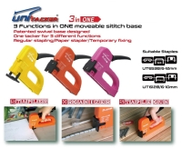 3 functions in ONE plastic housing staple gun tacker