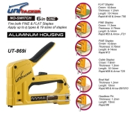 6 in 1 aluminum staple gun tacker