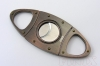 Oval Shaped Cigar Cutters ( All Stainless Steel ) in Ancient Reddish Copper Plated
