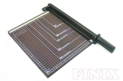 Paper Trimmer / Paper Cutter with Wooden Base (in dark brown color)