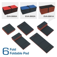 3 function in 1 EVA foam foldable pad - lying kneeling, and sitting.
