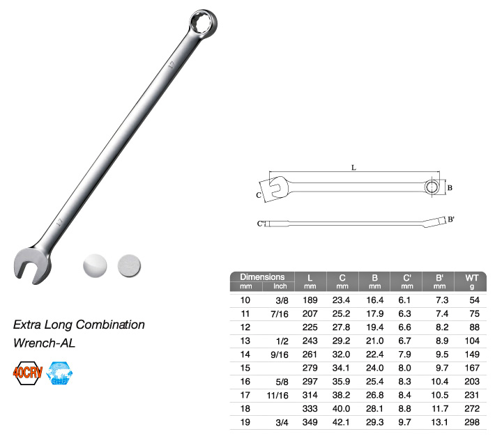 Extra Long Combination Wrench-AL