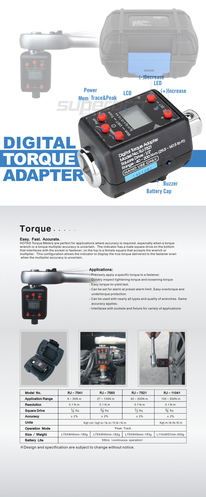 Digital Torque Adapter