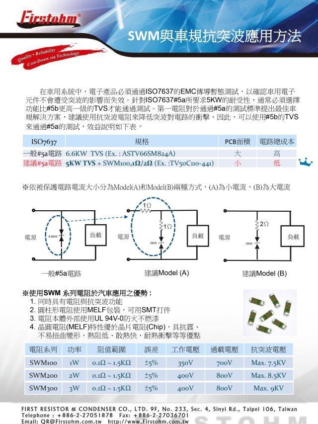 抗突波绕线圆柱贴片电阻