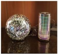 3D LED Glass desk lamp
