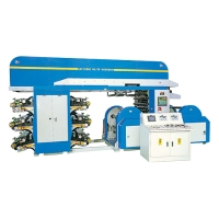 Doctor Blade Type 6 Colors Flexographic Printing Machine