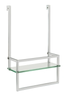 SR101G 390x250x106mm Hanging shower rack with glass