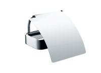Toilet roll holder with lid