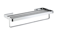 Towel rack with bar