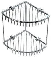 C204 Solid brass corner basket 180 x 180 x 236 mm