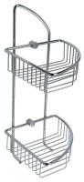 C205 Solid brass corner basket 170 x 170 x 425 mm