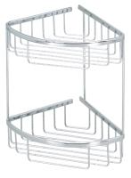 C201 Solid brass corner basket 210 x 210 x 325 mm