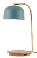 Cens.com table lamp, with USB and wireless charger CHARMING HOME DECOR CORP.