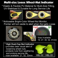 Multi-fit Wheel Nut Indicators & Nut Retainers