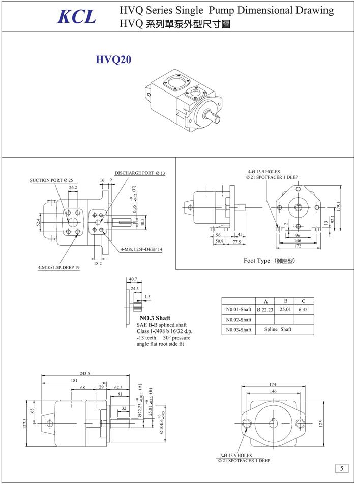 叶片泵/单联泵