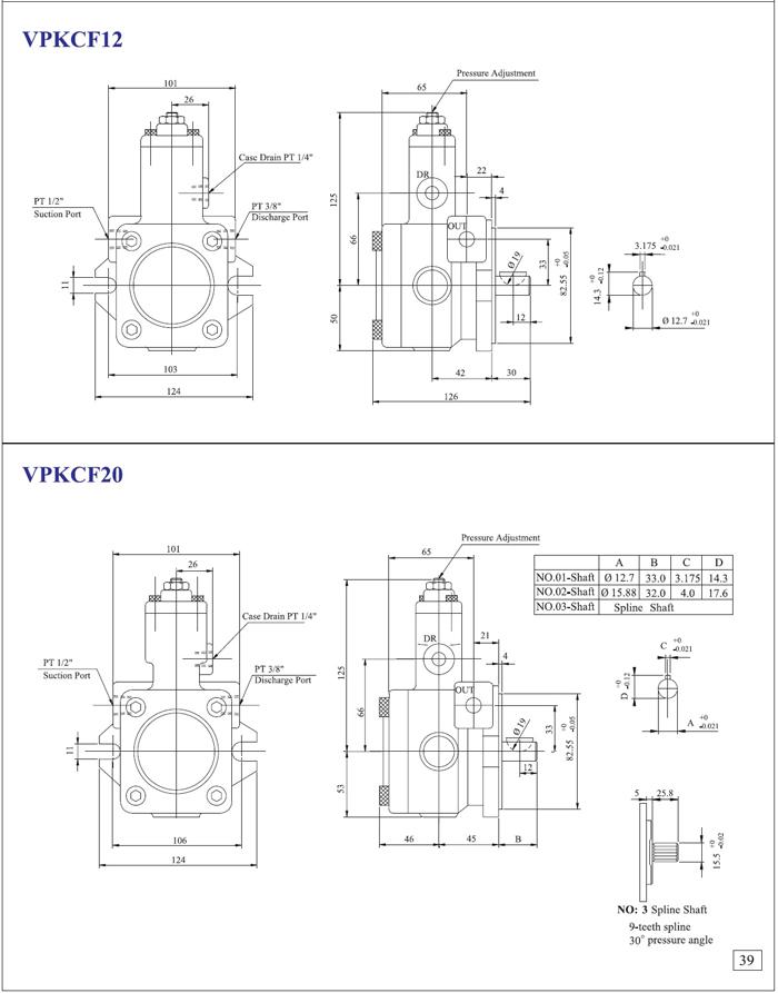 可变吐出叶片泵/变量泵