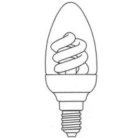 Candle Shape Covered Compact Fluorescent Lamp