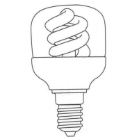 Tubular Shape Covered Compact Fluorescent Lamp