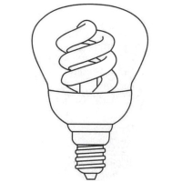 Reflector Type Covered Compact Fluorescent Lamp