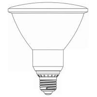 PAR Reflector Type Covered Compact Fluorescent Lamp