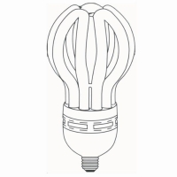 Lotus Shape High Power CFL