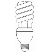 Linear Dimmable T3 Half Spiral CFL