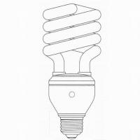 T3 Half Spiral CFL with Sensor