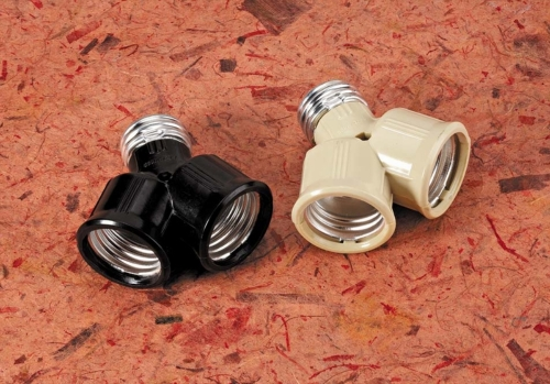 LAMPHOLDER ADAPTOR E26 TO DUAL E26